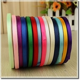 "3/8"" Personalized satin ribbon Plain Edge"