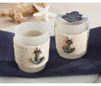 "20171NA ""Anchors Away"" Rope Tealight Holder (Set of 4)"