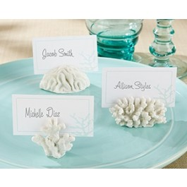 """25124WT """"Seven Seas"""" Coral Place Card/Photo Holder (Set of 6)"""