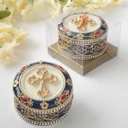 88012 Cross Rosary box - trinket box
