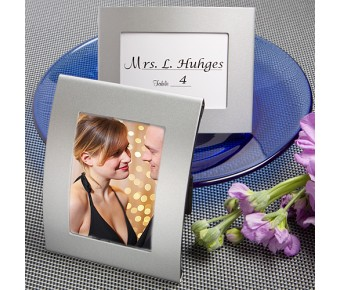 5703 Matte Silver  Metal Place  Card/Photo Frames