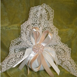 AF1531 Doily Favor bag with Rhinestone, Almond Favors