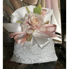 AF604 Elegant Italian wedding favor bomboniere with craft flower