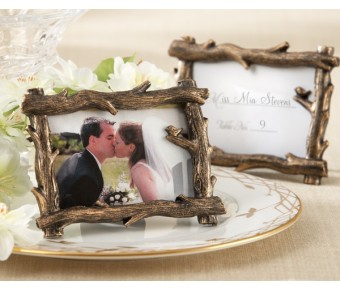 "25076BR ""Scenic View"" Tree-Branch Place Card/Photo Holder"