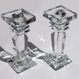 Candle Older set of 2 Crystal Glass by myitalianfavors.com