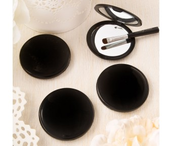 7901 Black compact mirror from Fashioncraft's Perfectly Plain Collection