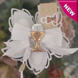 CF940 First Holy Communion Confetti Flower with Silver Chalice
