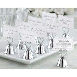"12006NA ""Kissing Bell"" Place Card/Photo Holder (Set of 24)"