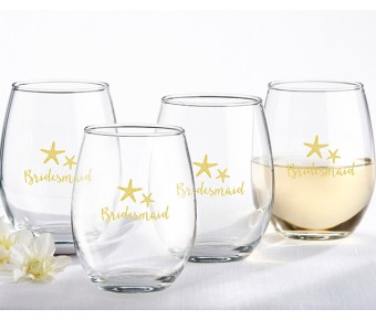 30023NA-BBPB Bachelorette Bash 15 oz. Stemless Wine Glasses - (Set of 4)