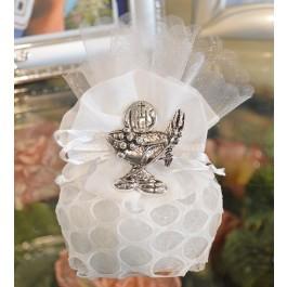AF755 Italian Pouch communion favors with Chalice pin