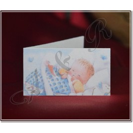 F107 Italian Baby Shower Favor Tag Bigliettini boy