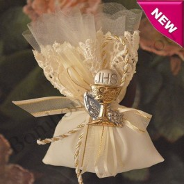 AF430 Italian First Communion Pouch with Italian Silver Chalice
