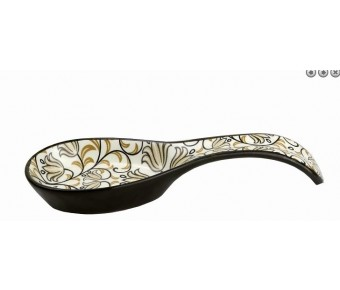 BIMINI COLLECTION SPOON REST-BLACK AND BROWN by myitalianfavors.com