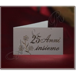 25ANNI Italian 25th Anniversary Favor Tags