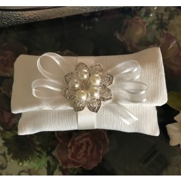 HC155 Haute Couture Envelope Wedding favors Bomboniere with Brooch