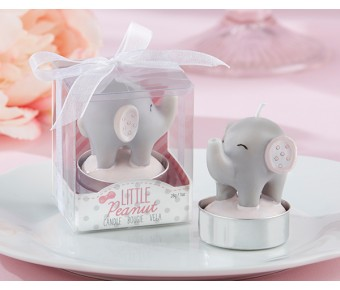 20154NA Little Peanut Elephant-Shaped Candle (Set of 4)
