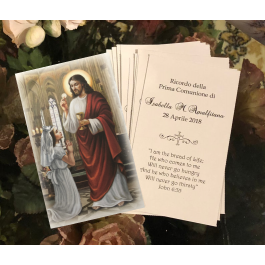 FA2235 Personalized First Communion Remembrance Card