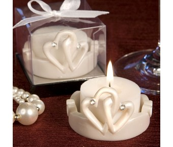 8304 Interlocking Hearts Design <i>Favor Saver</i> Candles