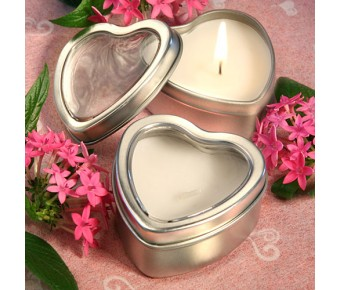 4735 <i>Light For Love Collection</i> Heart Candle Favor Tins