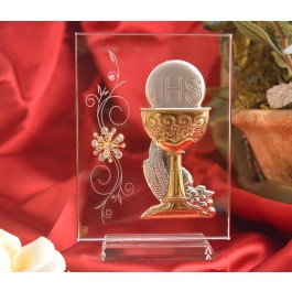 RL210VItalian Silver Chalice icon on a glass stand