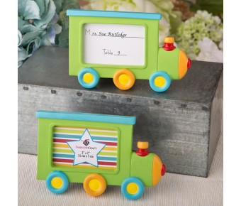 8392 Little Locomotive engine photo frame / placecard holder from fashioncraft