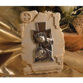 RL840 Guardian Angel icon on a Marble dust texture stand