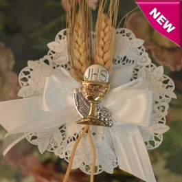 CF625 Italian Communion Confetti Flower with Wheat and Chalice