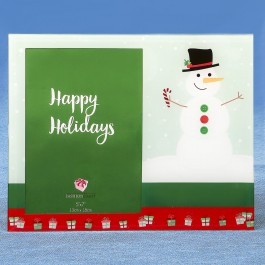 12268 Glass Holiday Snowman 5x7 frame
