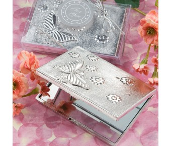 5918 <em>Elegant  Reflections Collection</em> Butterfly Design Mirror Compact Favors
