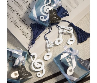 6474 Musical Note Bookmark Favors