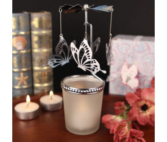 "RB1152 ""Fluttering Butterflies"" Spinning Butterfly Candle"