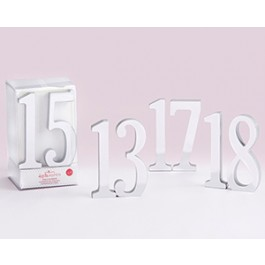 22076LG Silver Mirror Table Numbers (13-18)
