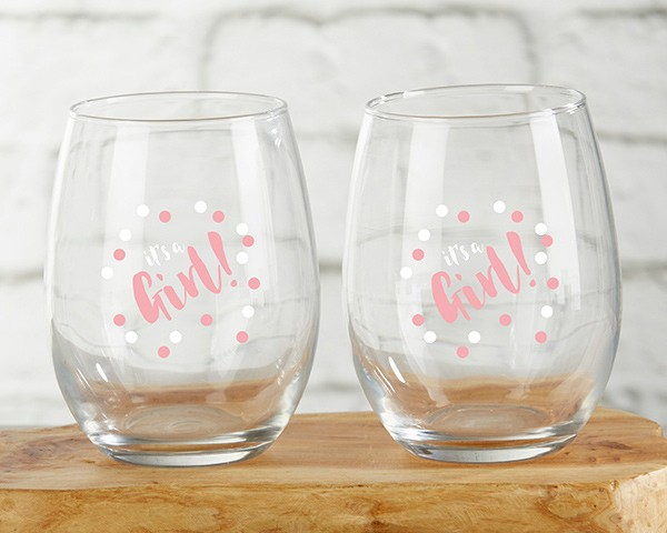 30023NA-EDM Personalized 15 oz. Stemless Wine Glass - Eat, Drink, Be Merry
