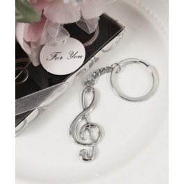 "RB1235 ""Harmony"" Treble Clef Key Chain"