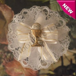 CF270 First Communion Confetti Flower with Italian Argento Chalice