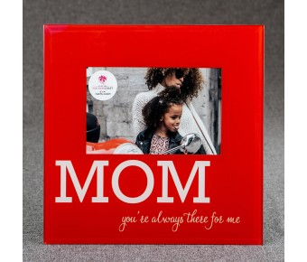 12231 Glass MOM frame - 6 x 4 - Red and White
