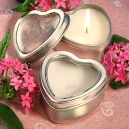 4735 Light For Love Collection Heart Candle Favor Tins