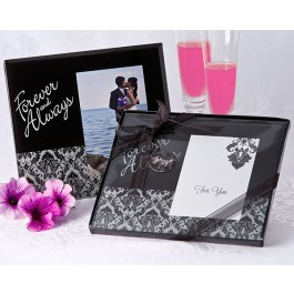 "A53106 ""Forever & Always"" Damask Photo Frame Favor"