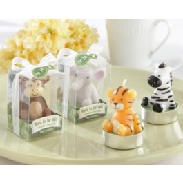 """20124AS """"Born to be Wild"""" Animal Candles (Set of 4, Assorted)"""