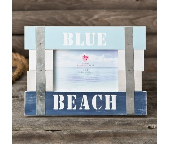 12171 Blue Beach Frame 6 x 4 Horizontal from gifts by fashioncraft