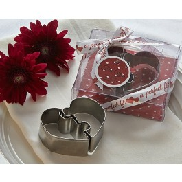 "A73003 ""A Perfect Fit"" Heart Puzzle Cookie Cutters"
