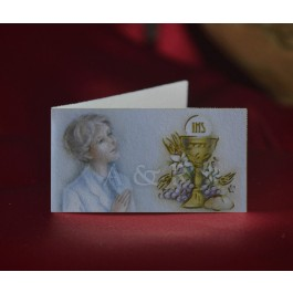 C291 First Communion Boy Favor Tags Bigliettini
