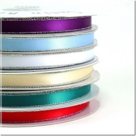 "3/8"" Personalized satin ribbon Silver Edge"
