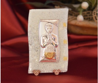 83MURMade in Italy First Communion Boy on a Murano Glass Stand