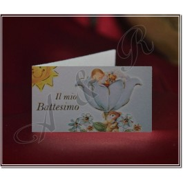 B026 Favor tags Bigliettini for Baptism Christening