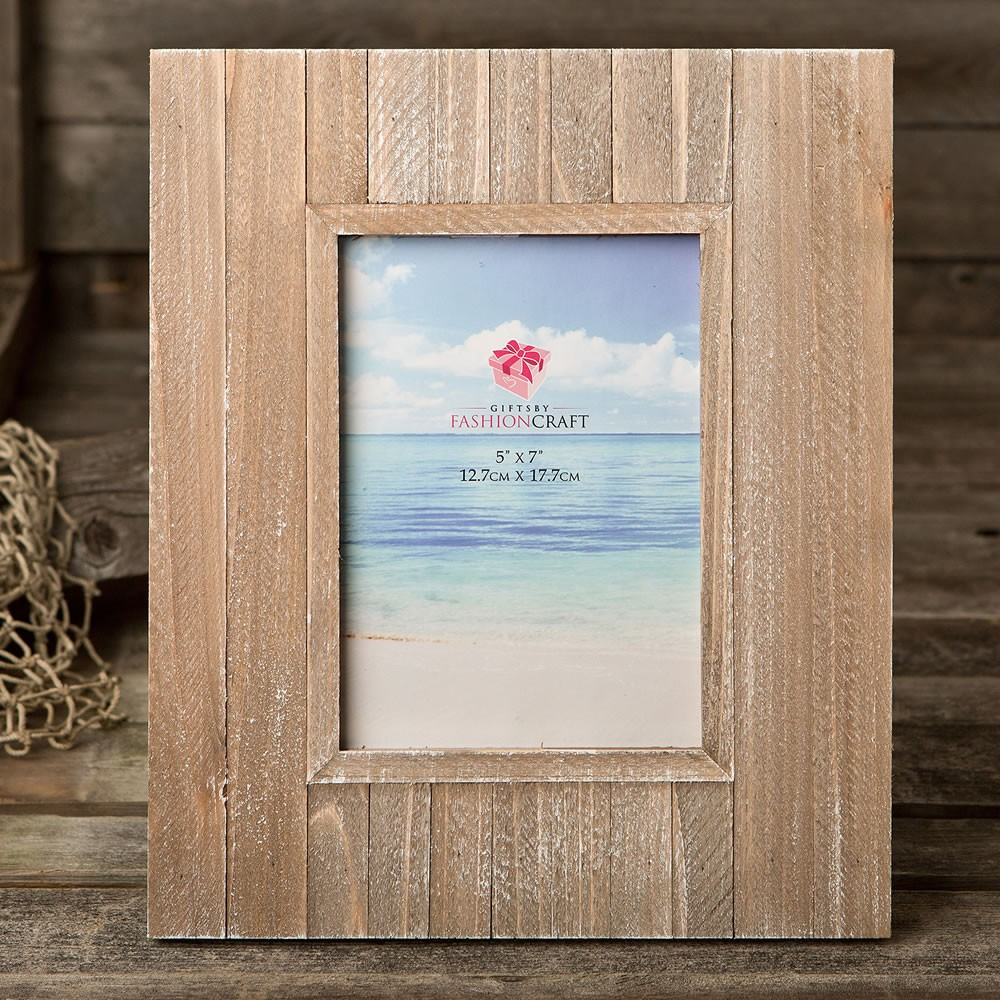 Distressed wood wide border 5 x 7 frame from gifts by fashioncraft ...