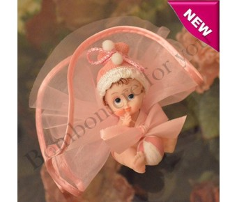 AF225 Almond Favor with Baby Girl Figurine