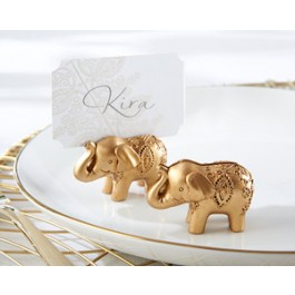 25244GD Lucky Golden Elephant Place Card Holders (Set of 6)