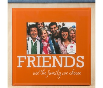 12233 Glass FRIENDS frame - 6 x 4 - orange and White