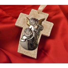RL4200 Guardian Angel Hanging Cross Made in Italy
